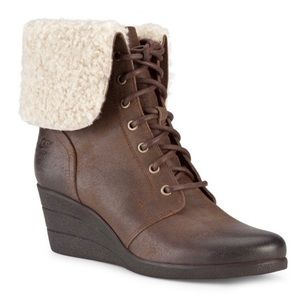 Ugg Zea Waterproof Shearling Linedwedge Boots